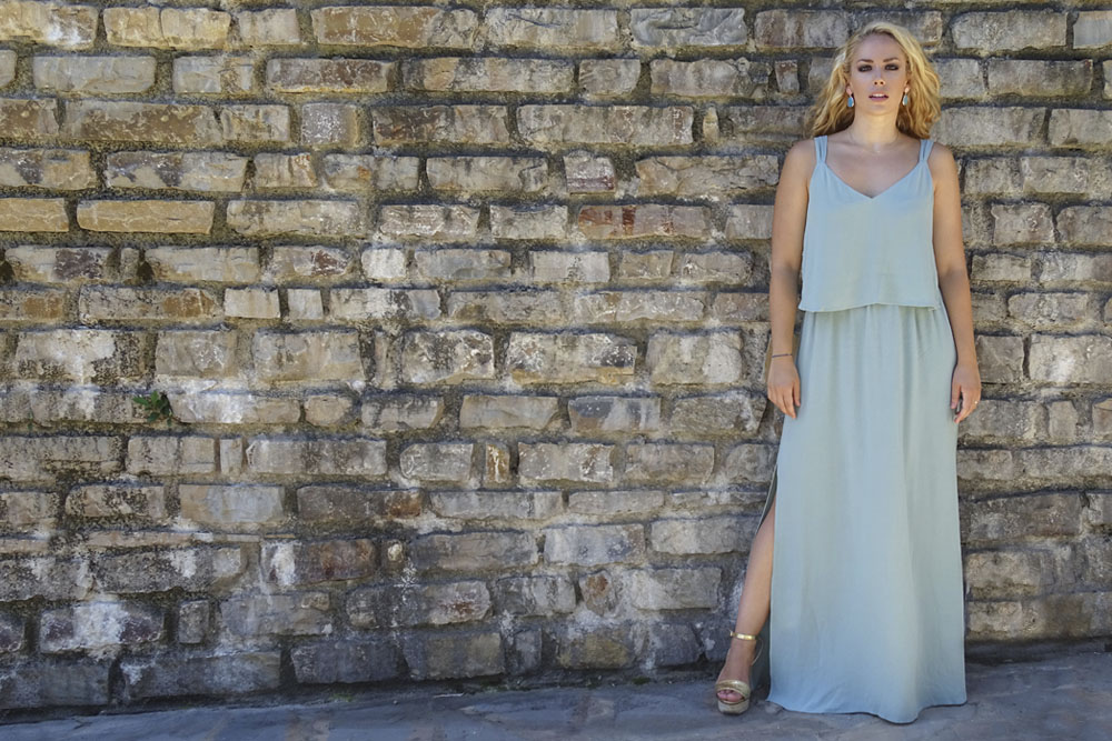 Zara blue maxi dress.
